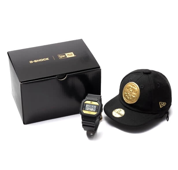 G-Shock x New Era Anniversary Edition Black Gold