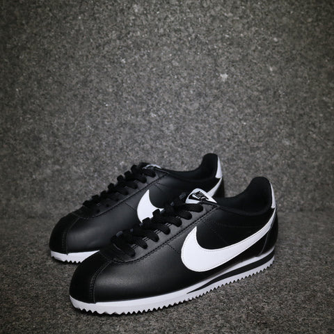 Women's Cortez Leather Classic Black White Black