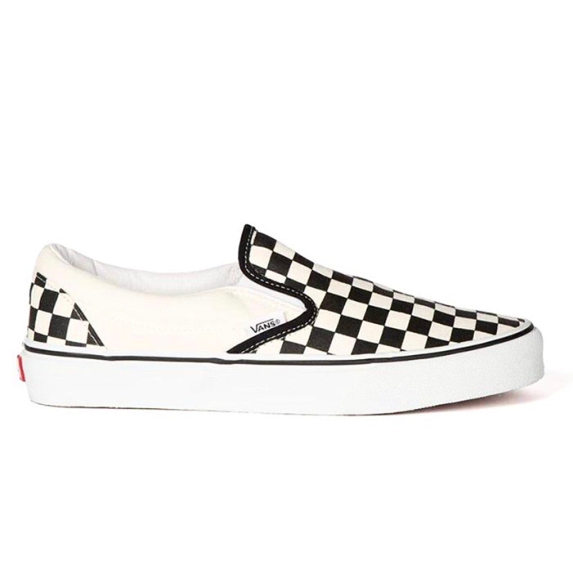 Classic Slip On White Black Checkerboard