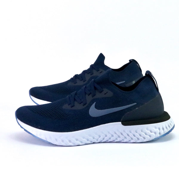 Epic React Flyknit Navy Blue Grey Black