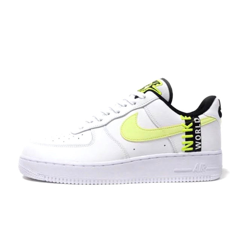 Air Force 1 LV8 World Wide Pack White Barely Volt Black by Nike