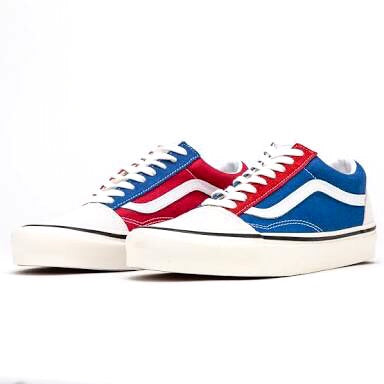 Old Skool 36 Deluxe Anaheim OG White OG Blue OG Red