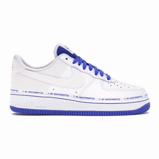 Air Force 1 07' MTAA QS White Black Racer Blue