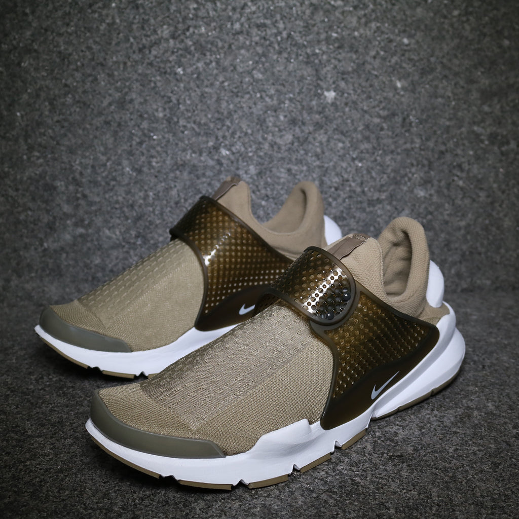 8bf9f3acb2fd Off Centre View of the Nike Sock Dart Cargo Khaki White at Solemate  Sneakers Sydney