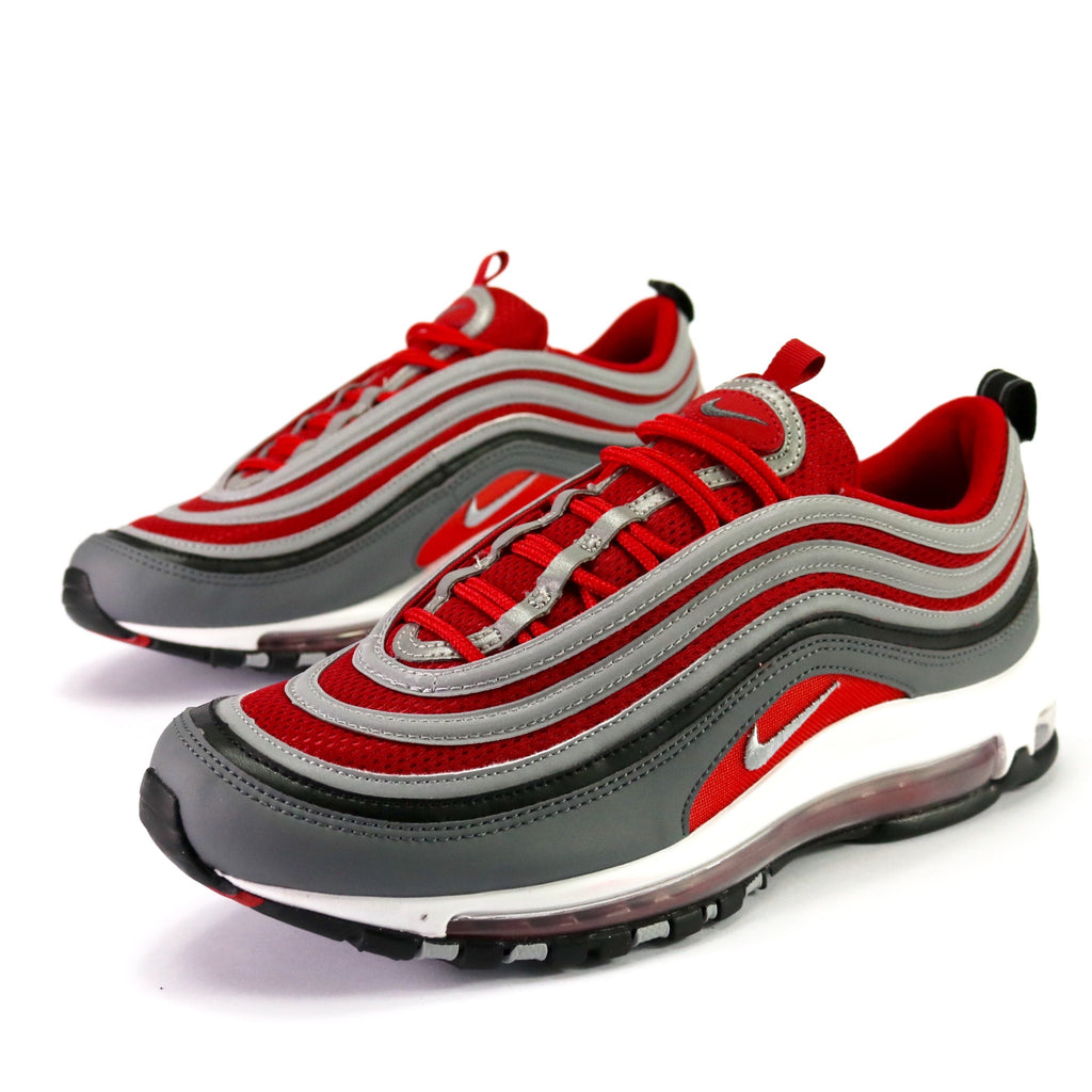 more photos b77ef 968f5 Air Max 97 Dark Grey Wolf Grey Gym Red – Sole Mate Sneaker Boutique