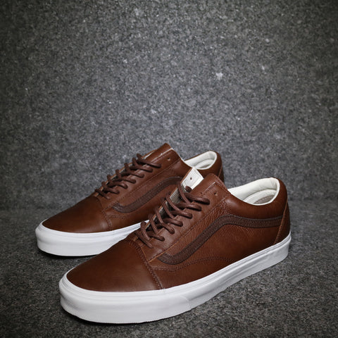 Old Skool Leather Dark Brown