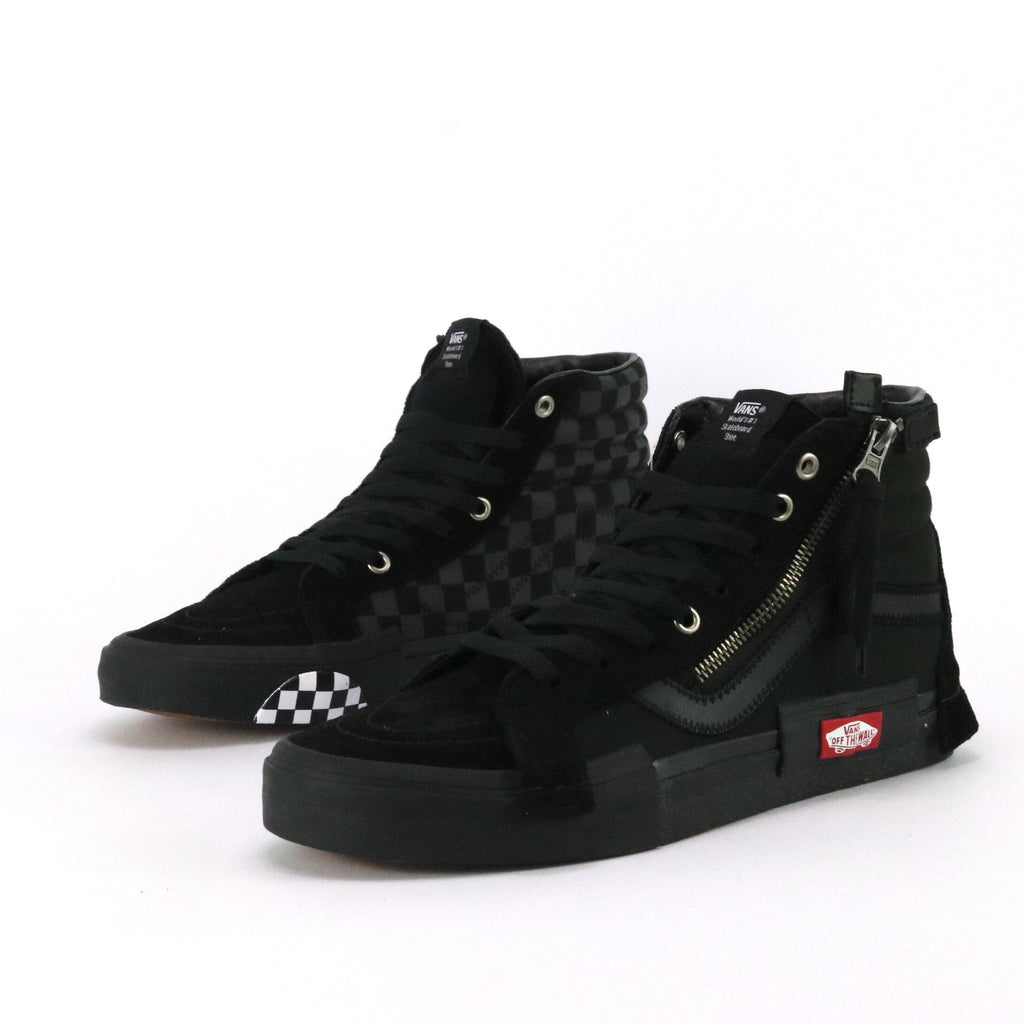 SK8 Hi Reissue Cap Patchwork Checkerboard Black Black