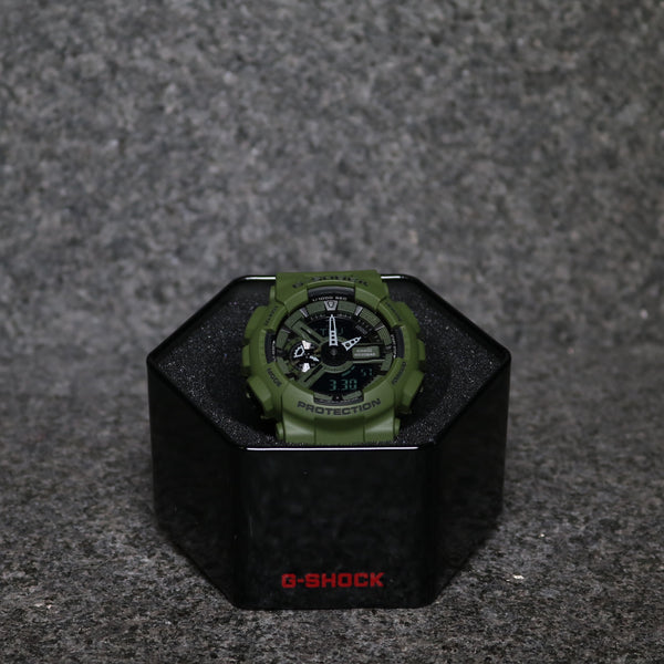 G-Shock GA110 Punching Pattern Khaki Green Black
