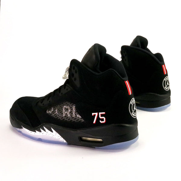 Air Jordan 5 Retro PSG Black Challenge Red White