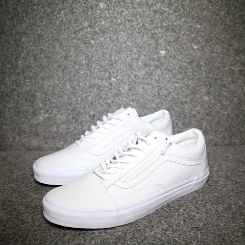 Old Skool Zip Croc Print True White