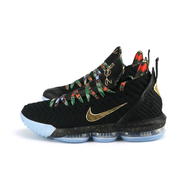 Lebron 16 KC Watch The Throne Black Metallic Gold Rose Frost