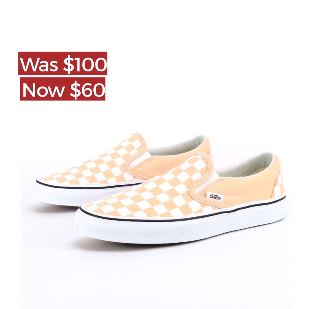 Classic Slip On Checkerboard BL Pink