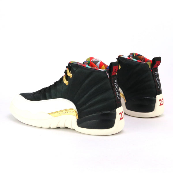 Air Jordan 12 Retro CNY Black True Red Sail