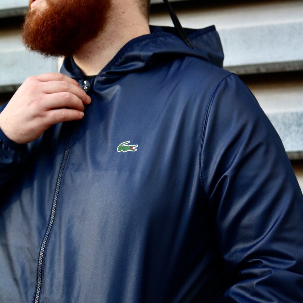 Lacoste Diamond Tech Wind Breaker Navy Blue