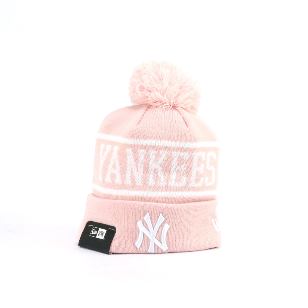 New Era Pom Knit New York Yankees Pink White