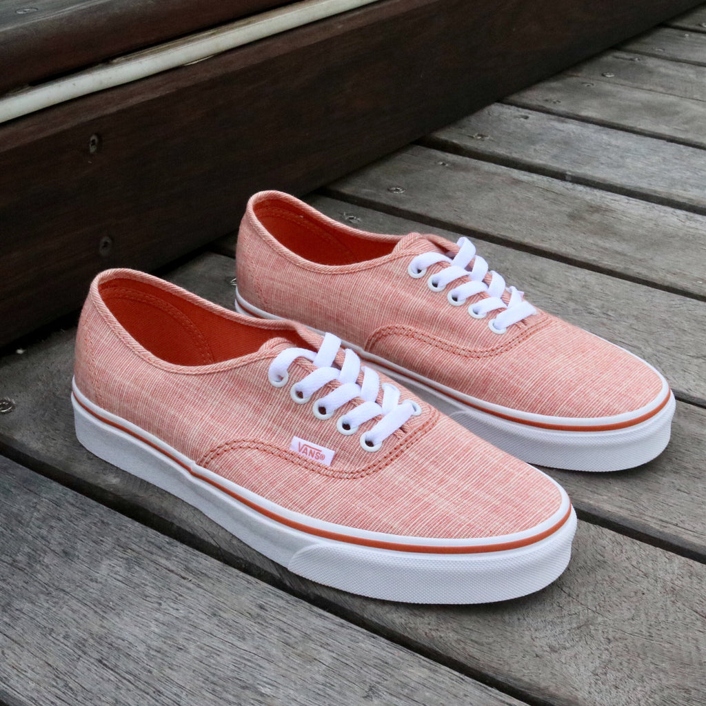 Vans UA Authenic Chambray Carnelian White