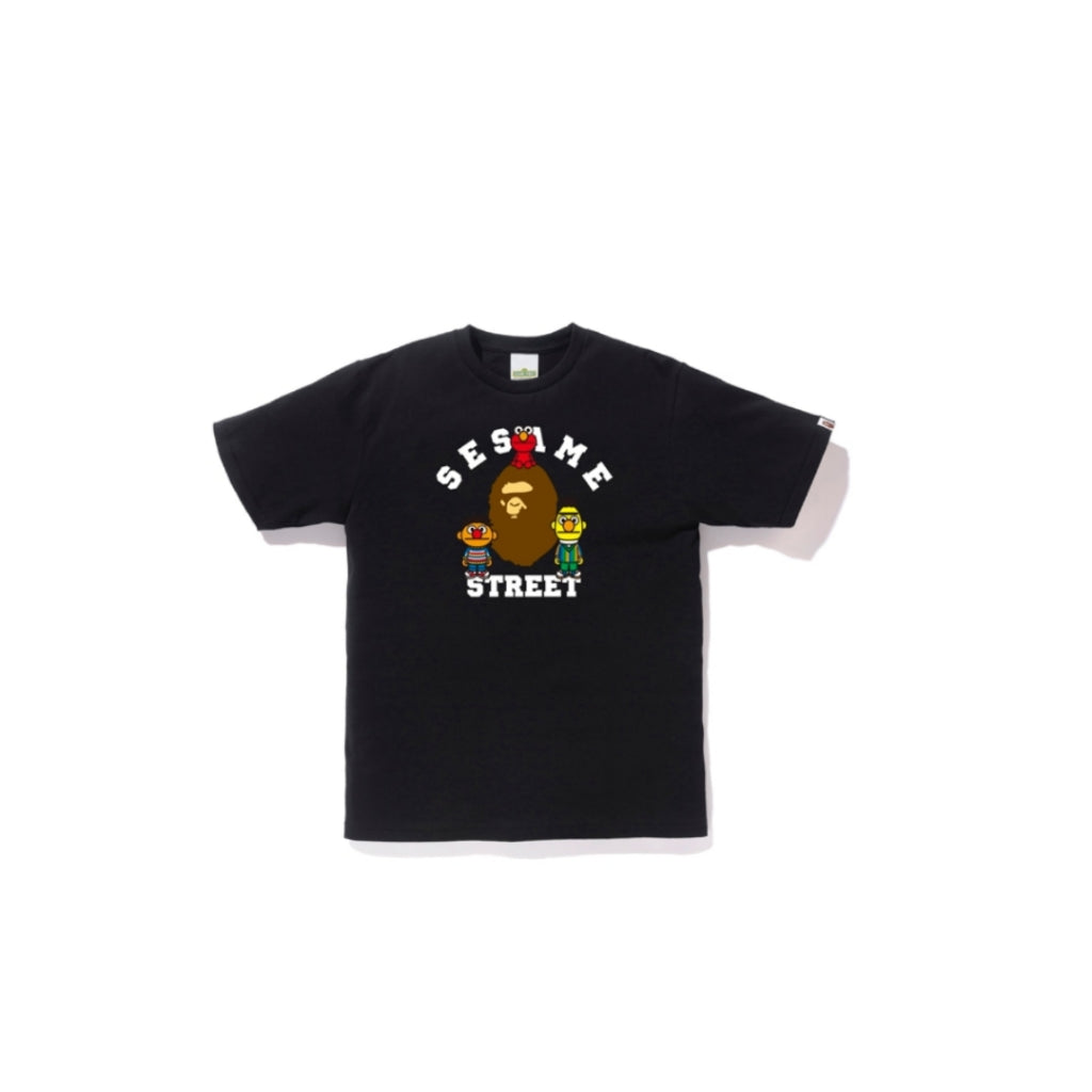 A Bathing Ape x Sesame Street Small Bape Head Tee Black