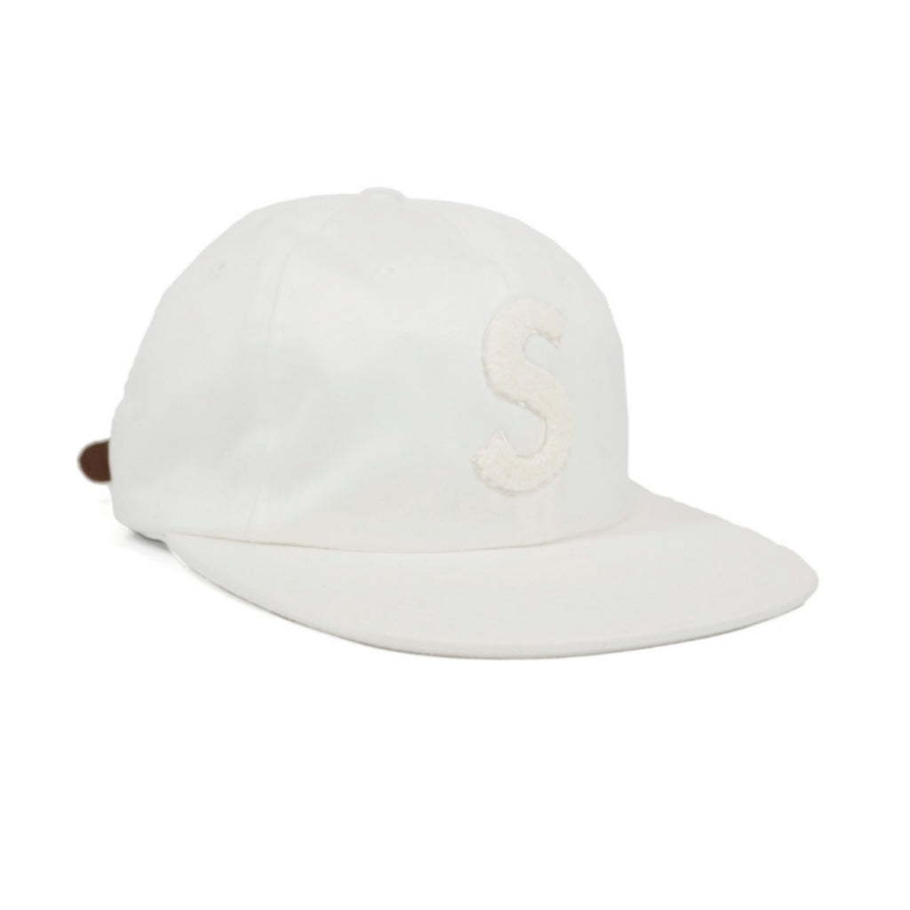 Supreme Chenille S Logo 6 Panel White
