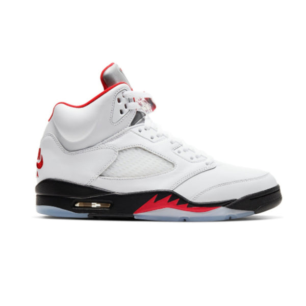 Air Jordan 5 Retro Fire Red Silver Tongue 2020
