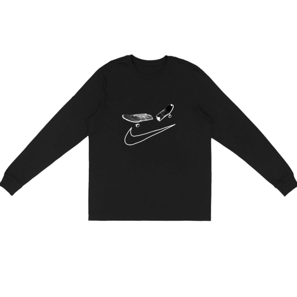 Travis Scott Cactus Jack Longsleeve T-Shirt Black  For Nike SB