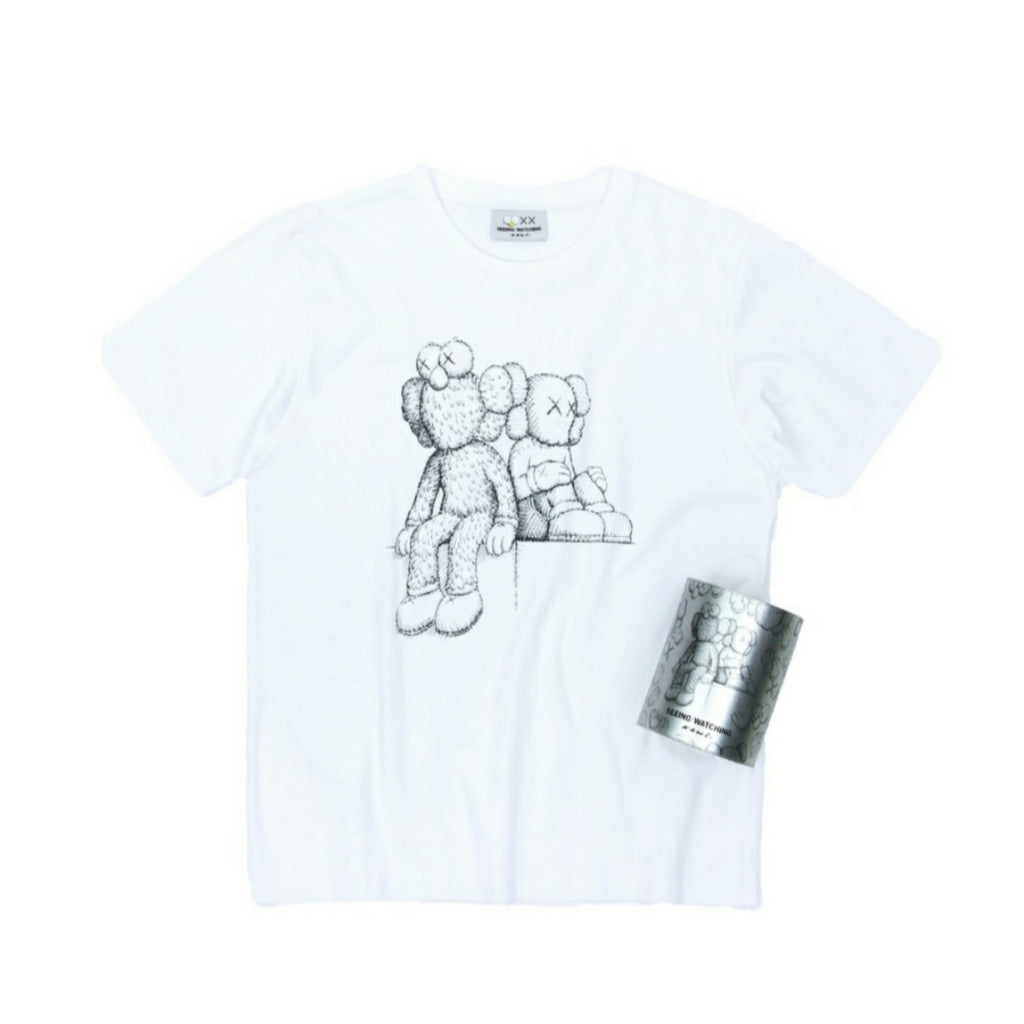 KAWS Seeing/Watching Canned Tee T-shirt White