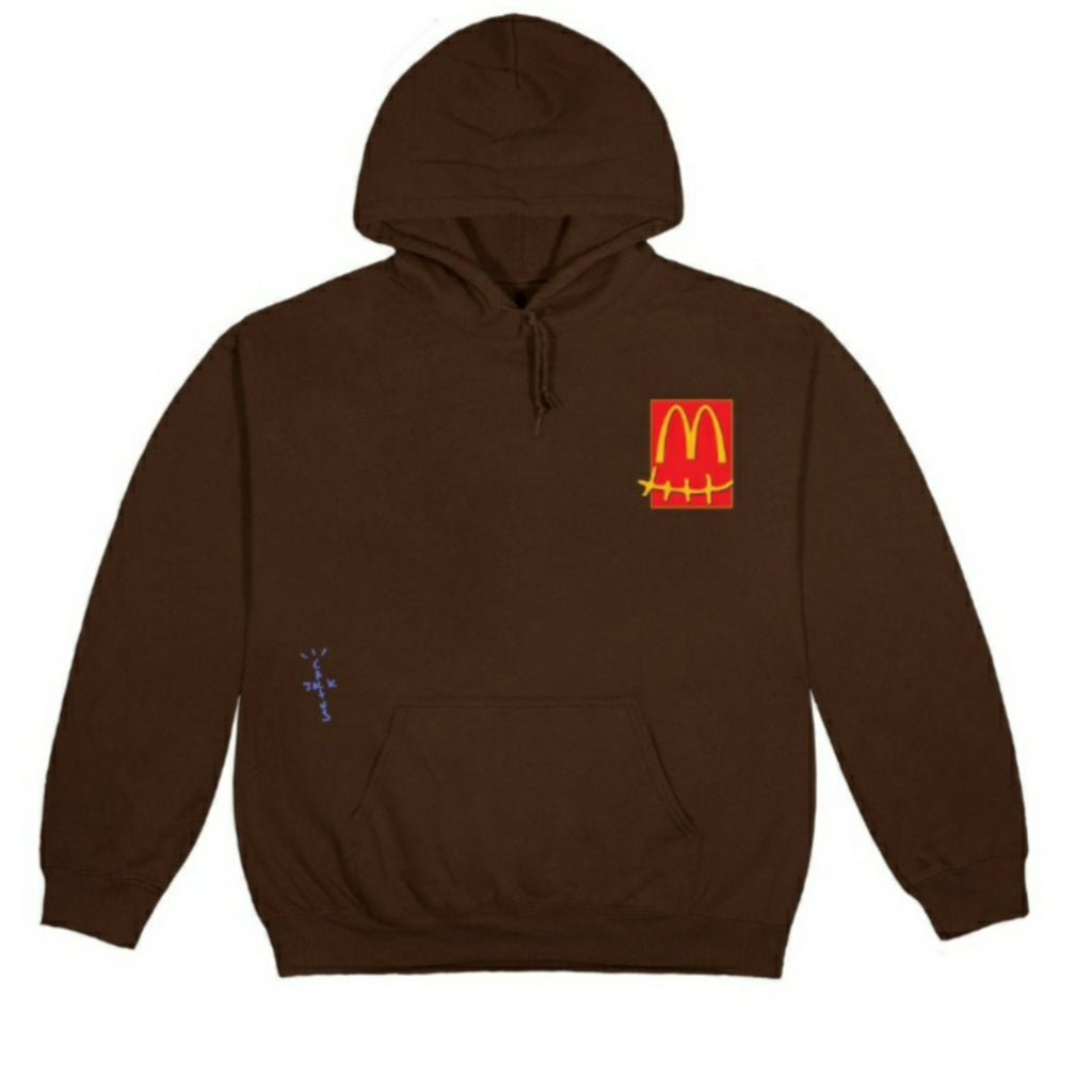 Travis Scott x McDonalds Cactus Pack Sticker Brown Hoodie