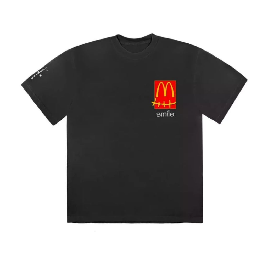Travis Scott x McDonalds Smile Tee Shirt Black Multi