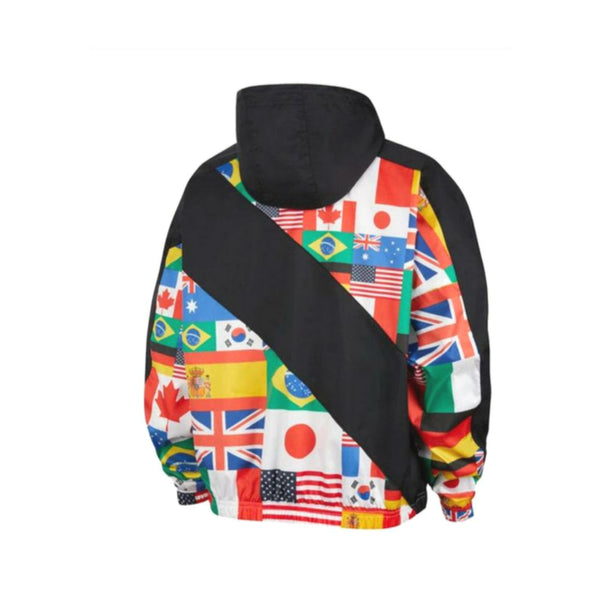 Womens NSW Flag Pack Woven Jacket Black By Nike