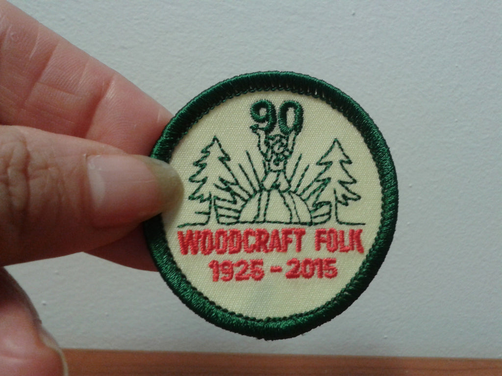 90th Anniversary-Embroidered Badge
