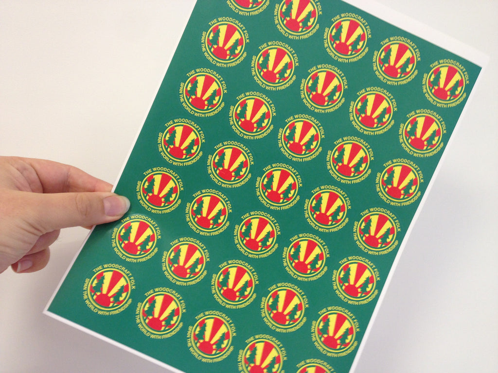 Sheet of Folk Symbol stickers