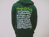 "Hoodie - ""Youth is not Wasted on the Young"" Short re run limited stock. Please note youth green are pullover."
