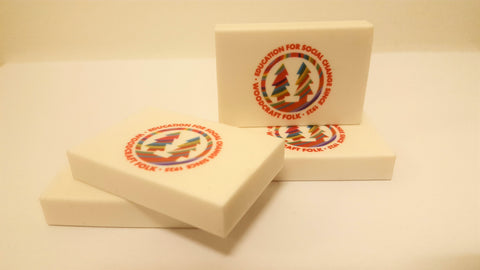 Eraser-White with colourful logo