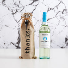 Load image into Gallery viewer, Thank an organic wine lover with our Angove organic white wine gift bag. A great, modern alternative to gifting.