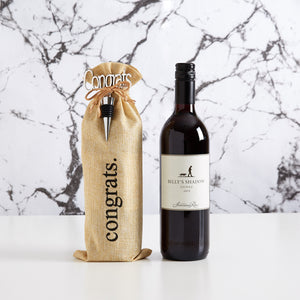 Saying congratulations is easy with our Billy's Shadow Red Wine Gift. This is a great corporate gift idea.