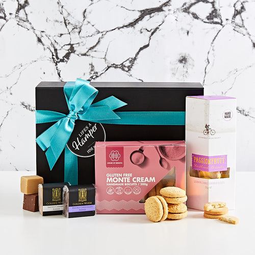 Do you need someone that needs a little pick me up? Why not send our Cookie and Fudge gift Hamper. The perfect little treat wether it's for a birthday gift, corporate gift or just to say Thank You.