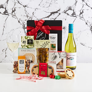 Festive Treats with White Wine Hamper