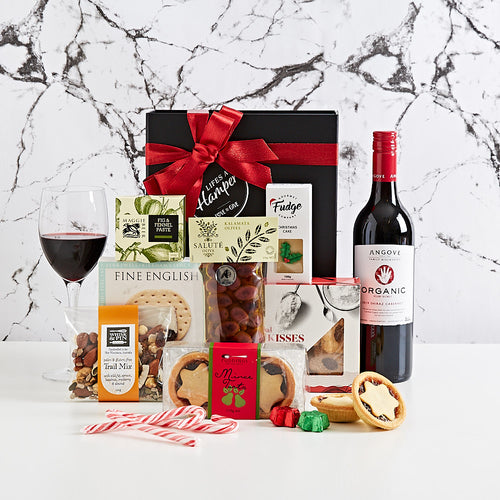 Organic Red Wine Christmas hamper and gourmet foods