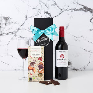 Organic Red Wine and Chocolate Hamper
