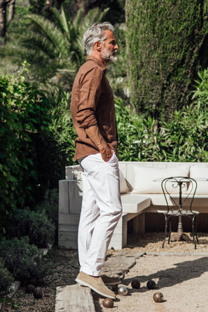 Tartane pants - White