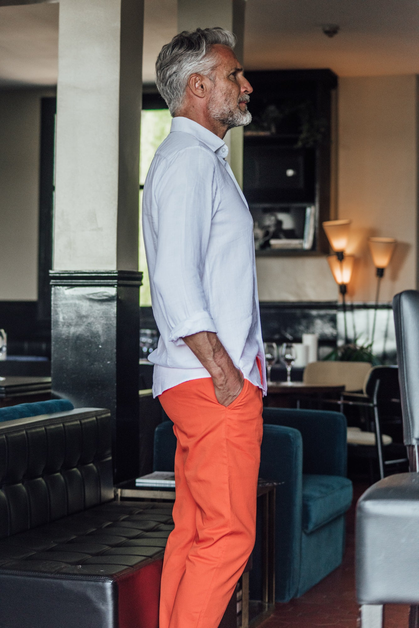 Tartane pants - Orange