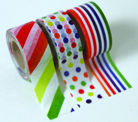 "Masking Tape 3er Set ""Kids Colorful"""