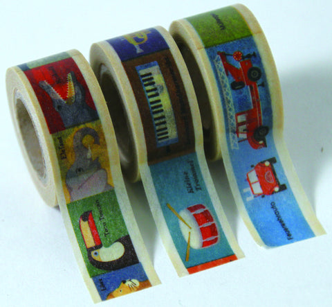 "Masking Tape 3er Set ""Kids Animal"""
