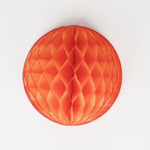 Papier Wabenball orange