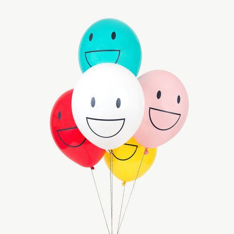 Ballon bunt Smiley (10)