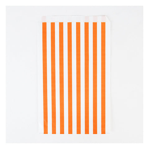 Party Bag orange Streifen (10)