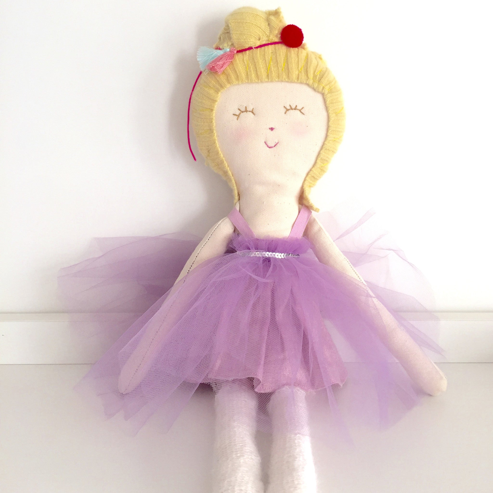 Pinkie in lavender tutu dress  - The Twin Travel Sisters collection