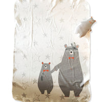 Forest Bears Organic Blanket set