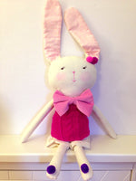 Bunny with Pink Bow