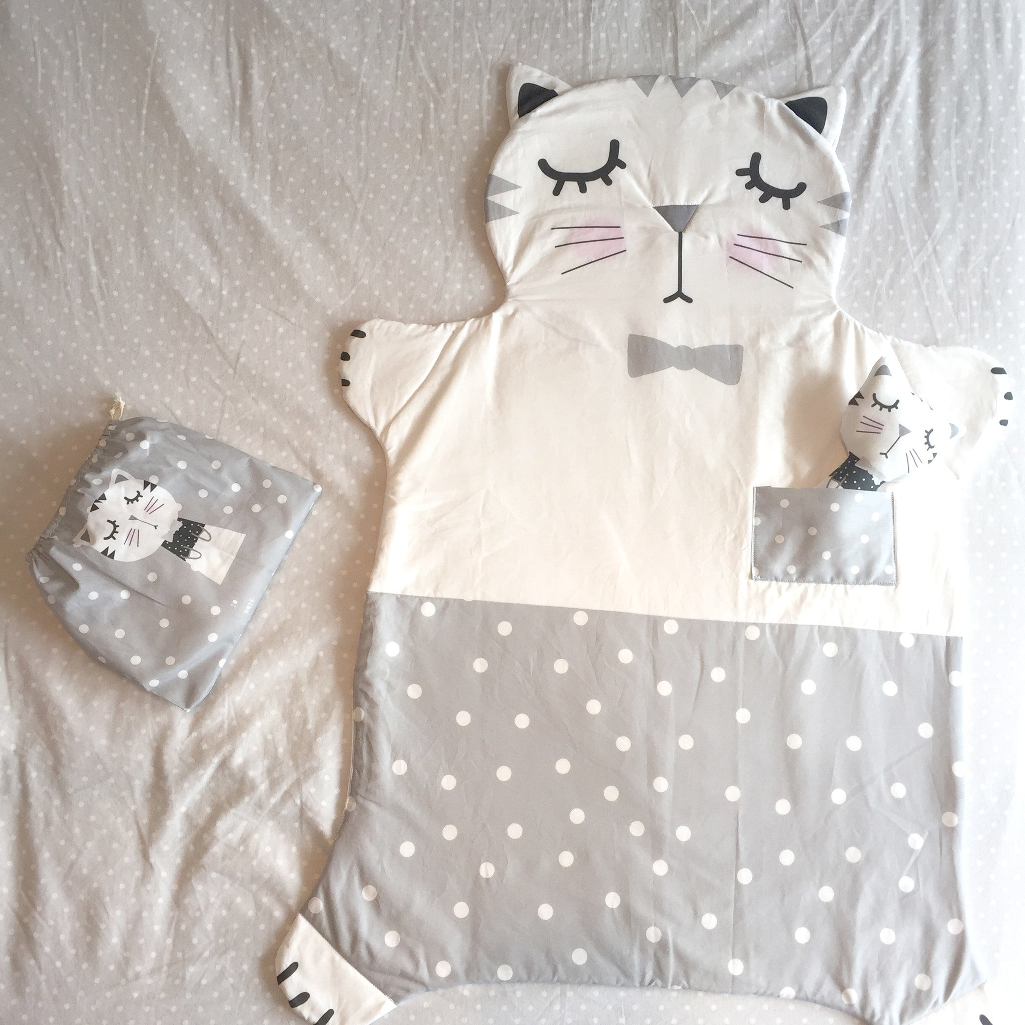 Sweet Kitty Blanket Set