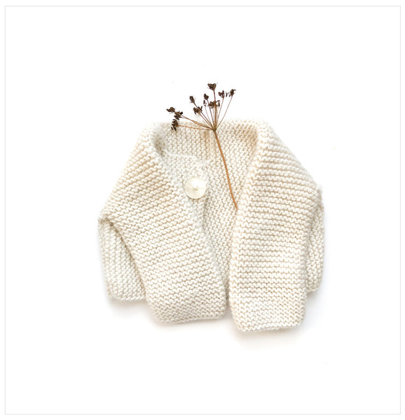 Alpaca Sweater for Baby I Cream color